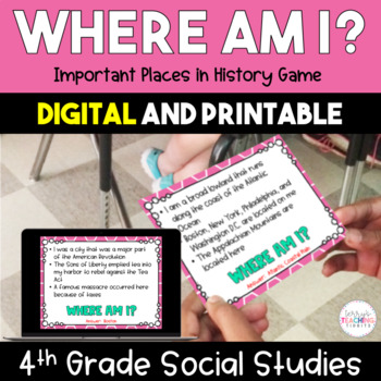 Where Am I? Important Places in History Game - 4th Grade