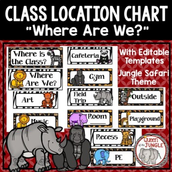 Where Are We? Class Location Chart