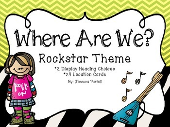 Where Are We?  A Rockstar Themed Display Chart Set