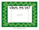 """Class Location Cards """"Where Are We?"""" Ribbons & Stripes Theme"""