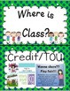 Where Are We? D'Nealian Classroom Helper Posters Navy Lime