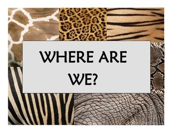 Where Are We? Door Sign Set