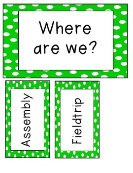 Where Are We ~ Green Polka Dots