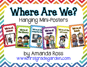 Where Are We? {Hanging Mini-Posters}