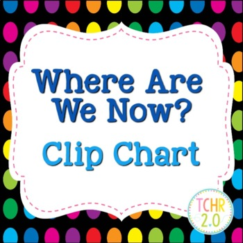 Where Are We Now Clip Chart Rainbow Polka Dots