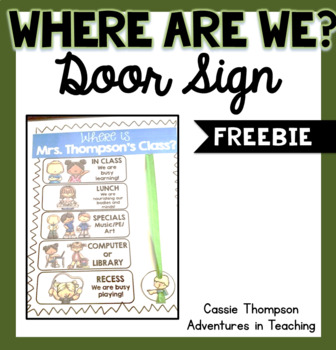 Where Are We? Sign FREEBIE