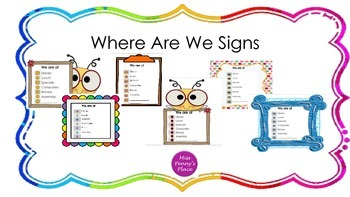 Where Are We Signs?