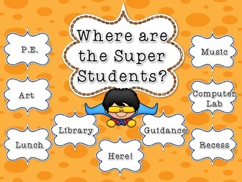 Where Are We? Super Hero Superhero Themed Classroom Sign