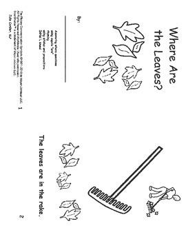 Where Are the Leaves? - mini book