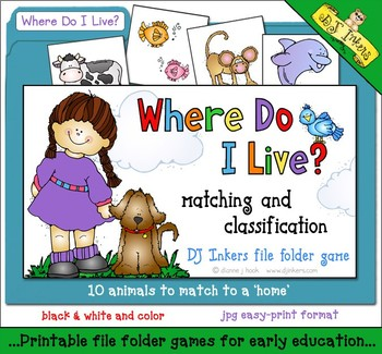 Where Do I Live? File Folder Game Download