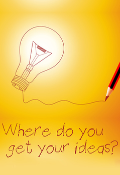 "FREE Poster: ""Where Do You Get Your Ideas?"" classroom moti"