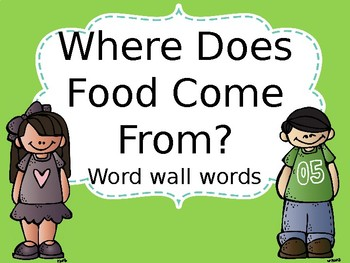 Where Does Food Come From PowerPoint