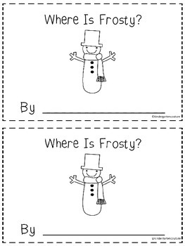 Where Is Frosty?   - A Positional Word Booklet