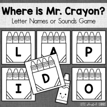 Where Is Mr. Crayon? Letter Name & Letter Sound Identifica