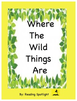 Where The Wild Things Are: A Sequencing Activity K-2