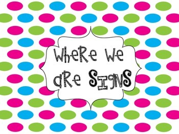 Where We Are Bright Polka Dots