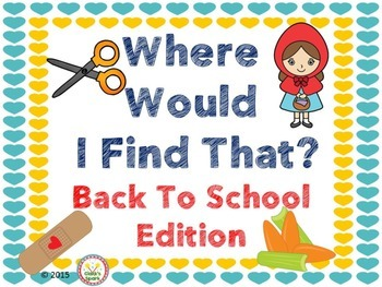 Where Would I Find That Back To School Edition
