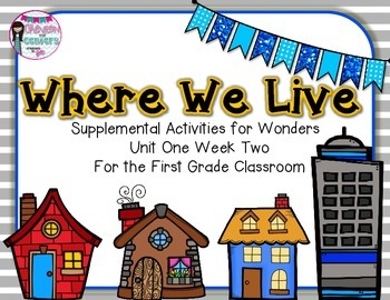 Where You Live- Supplemental Activities for Wonders Unit 1 Week 2