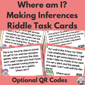 Making Inferences: Where am I? Task Cards