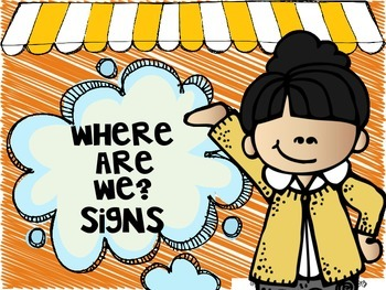 Where are We? Signs for your classroom door