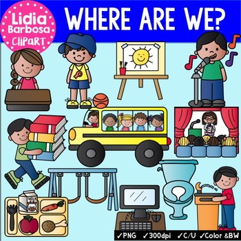 Where are We clipart for Teachers