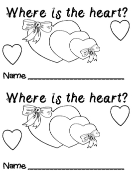 Where are the Hearts? Positional Word Emergent Reader Book