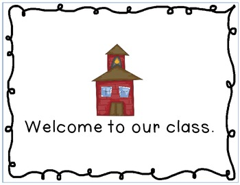 """""""Where are we?"""" signs for outside your classroom door"""