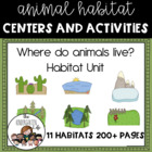 Where do animals live? 11 habitats, animals, minibooks, 206p.!