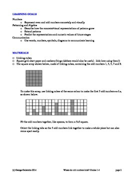 Where do odd numbers hide? Grades 1-4 lesson plan