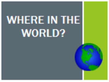 Where in the World Activity Packet
