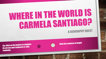 Where in the World is Carmela Santiago?  Adventure Seven