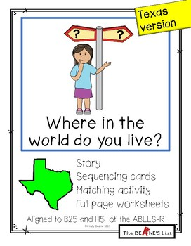 Where in the world do you live? (Texas version)
