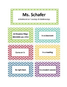 Where is Ms. Schafer? or counselor/social worker