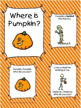 Where is Pumpkin? Pumpkin Emergent Readers, Pumpkin Activites