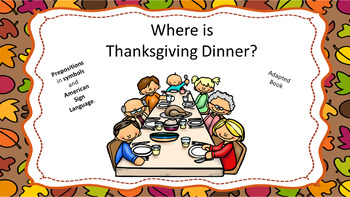 Where is Thanksgiving Dinner?