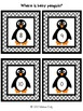 Where is baby penguin?  French and English Pocket Chart Game