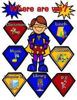 Where is the Class Sign-SuperHero Theme