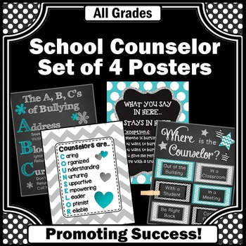 School Counselor Week Gifts Set of 4 Printable Office Deco