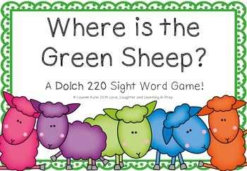 Where is the Green Sheep? A Dolch 220 Sight Word Game!