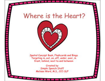Where is the Heart? Valentine Spatial Concept Book,Flashca