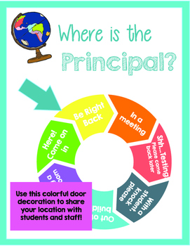 Where is the Principal? Travel Theme Location Wheel