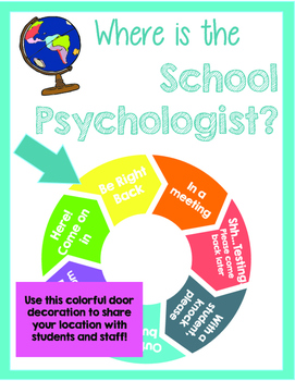 Where is the School Psychologist? Travel Theme Location Wheel