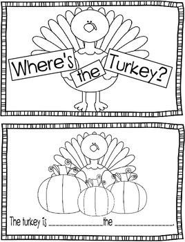 Where is the Turkey? Noun/Preposition Booklet