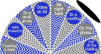 Royal Blue and Gray - Where is the counselor? sign - variation #1