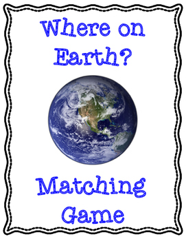 Where on Earth Geography Matching Game: Louisiana Version