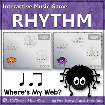 Where's My Web? Interactive Rhythm Game (Eighth Notes/Quar
