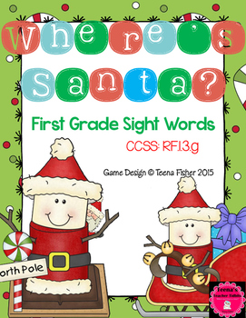 Where's Santa? First Grade Sight Word Hide and Find Christ