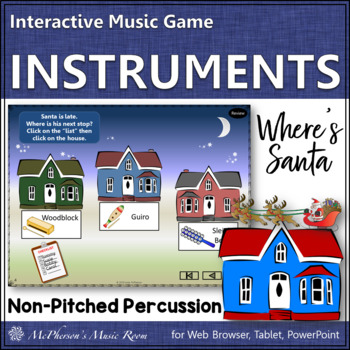 Where's Santa? Non-Pitched Percussion Interactive Music Game