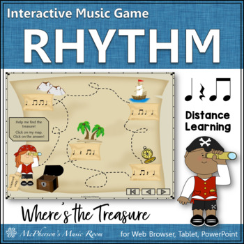 Where's the Treasure? (Eighth Notes) Interactive Rhythm Ga