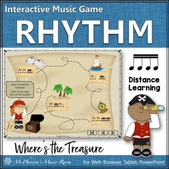 Where's the Treasure? Interactive Rhythm Game (Sixteenth Notes)